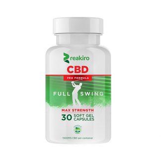 CBD Golf Pro Formula Gel Capsules 1500 mg